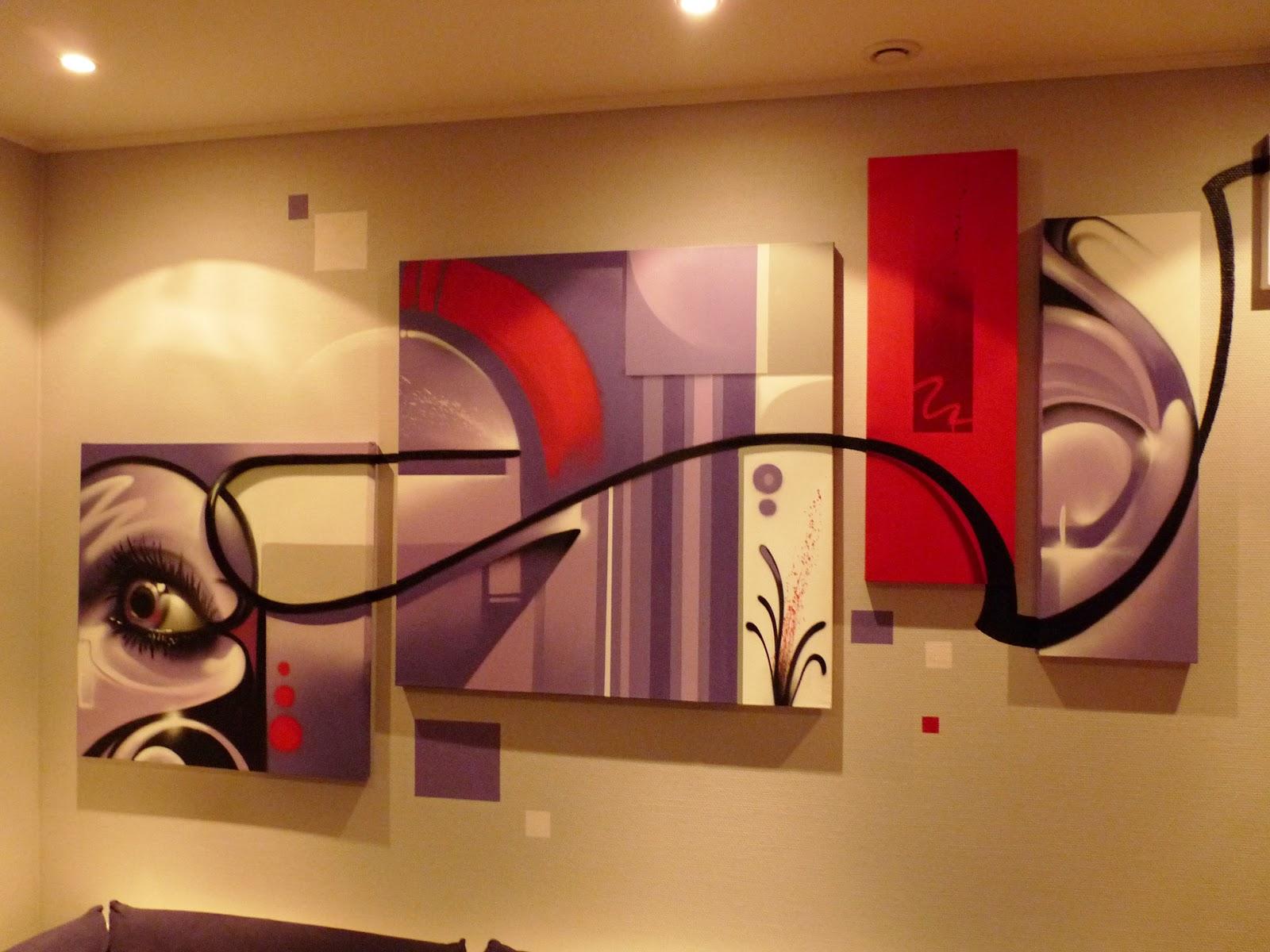 Gimus d coration d 39 int rieur mur salon toiles - Decoration d interieur salon ...