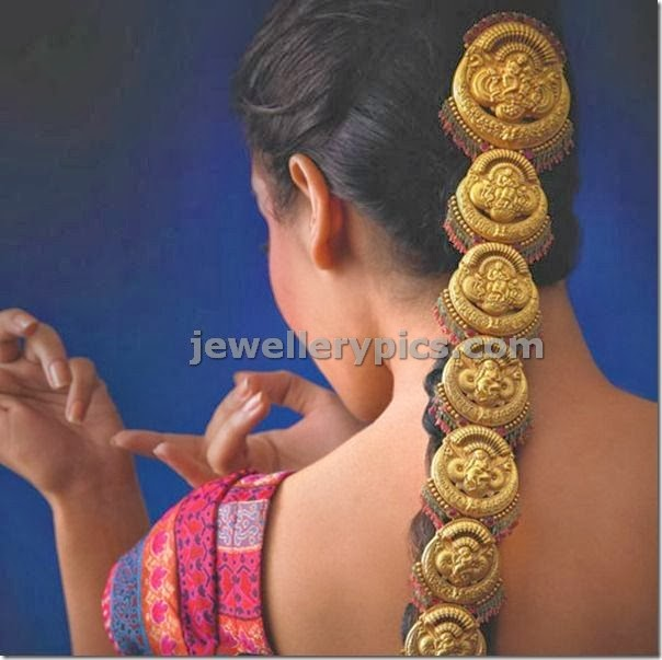 antique hair jewellery in gold