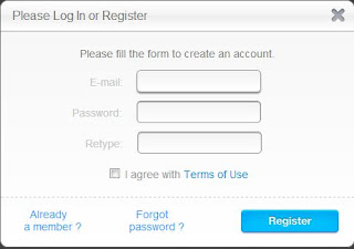Create a account with zbigz.com