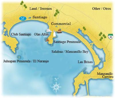 Mapa de Manzanillo Político Región