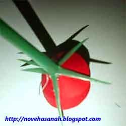 cara membuat bunga dari kertas 7