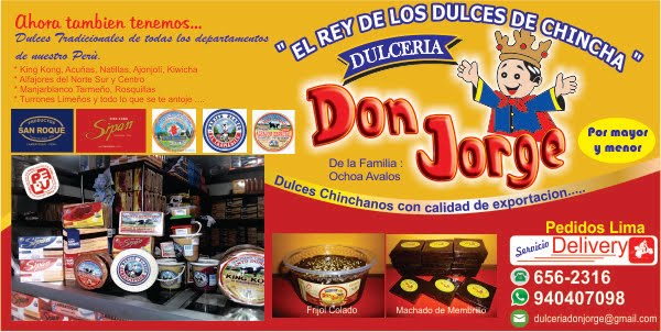Dulceria Don Jorge - Dulces Chinchanos