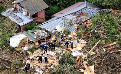 Poderoso tifón Whipa deja 17 muertos en Japon, 16 de Octubre 2013