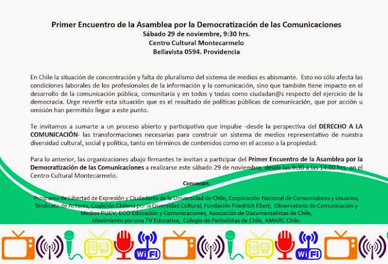 PROVIDENCIA: ENCUENTRO DE LA ASAMBLEA POR LA DEMOCRATIZACION DE LAS COMUNICACIONES