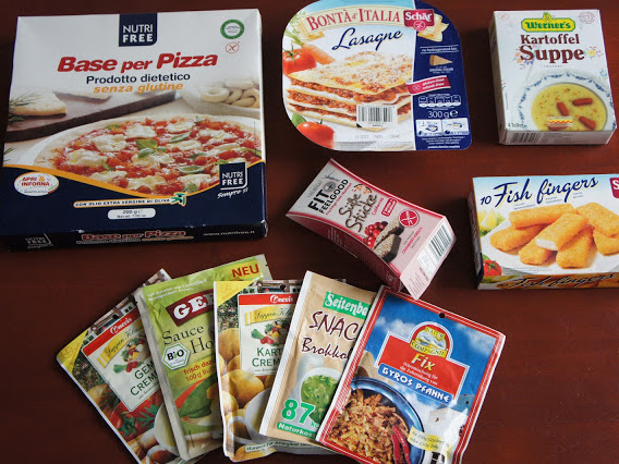 7. glutenfreie Kiste - glutenfreie TK und Fertigprodukte