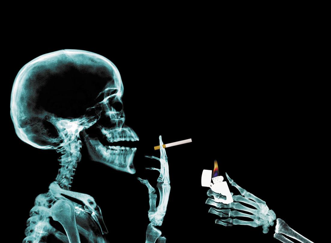 Deixar de fumar uma nova lua