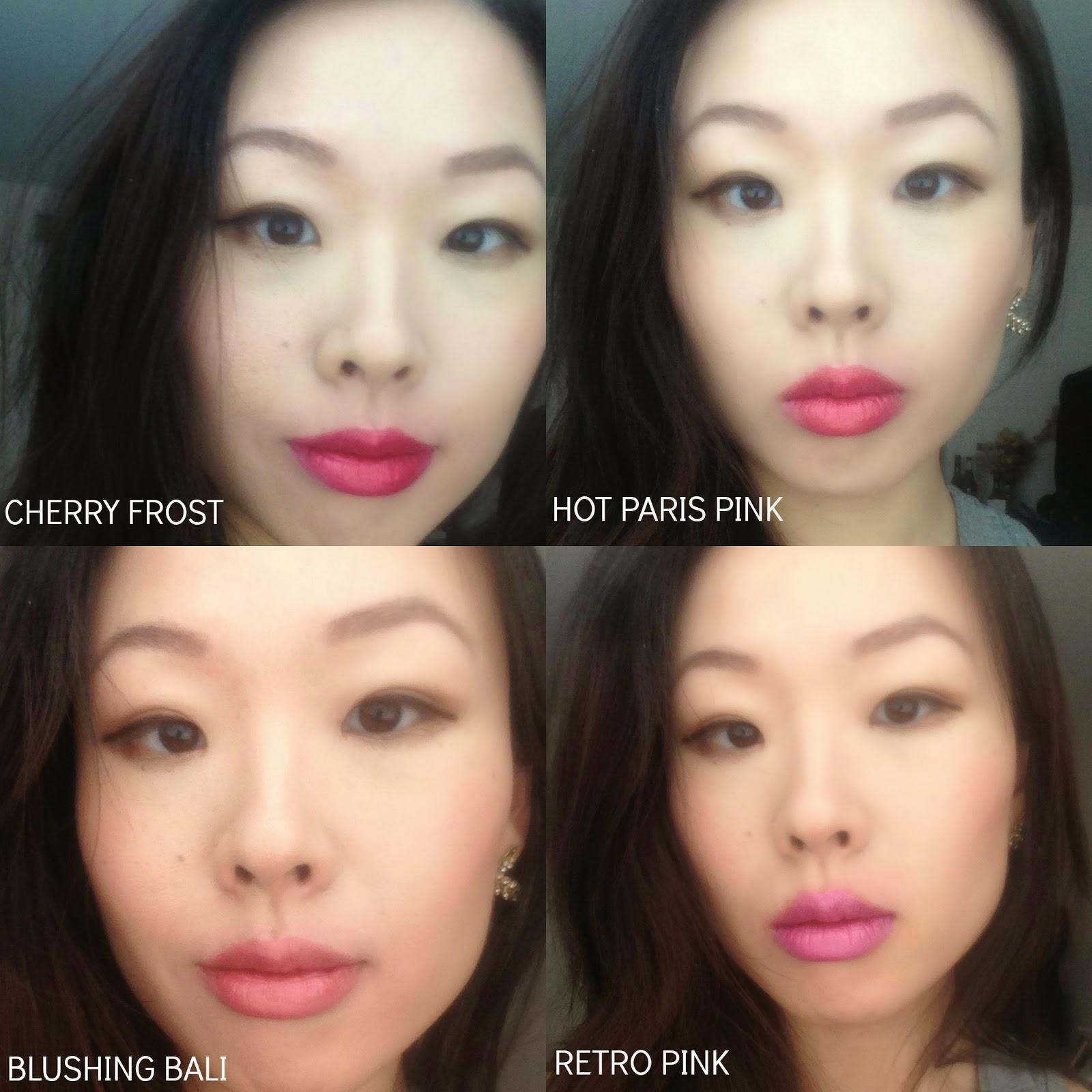 Wet N Wild Silk Finish Lipstick Lip Swatches