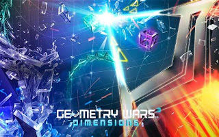 Screenshots of the Geometry wars 3: Dimensions for Android tablet, phone.