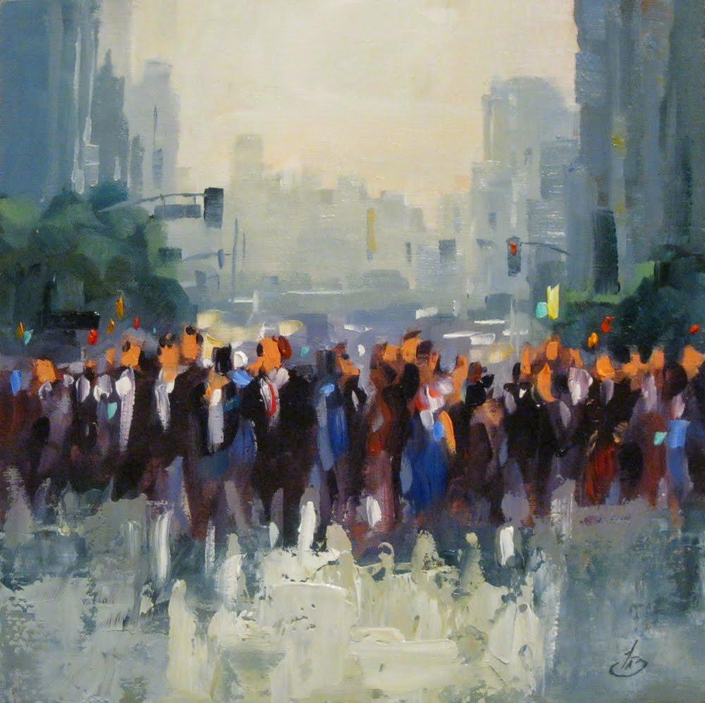 TOM BROWN FINE ART: PEOPLE, CITY, CROWDS, TOM BROWN ...