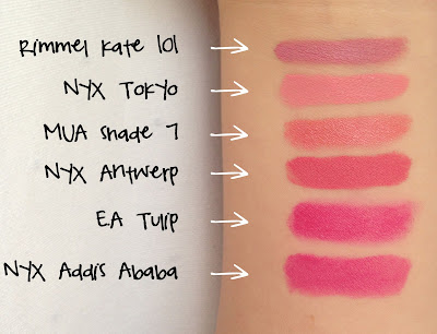 soft matte lip cream, nyx, urban outfitters, makeup, lip cream, lips, review, swatches, thoughts, tokyo, antwerp, addis ababa, comparison, twoplicates, beauty blog,
