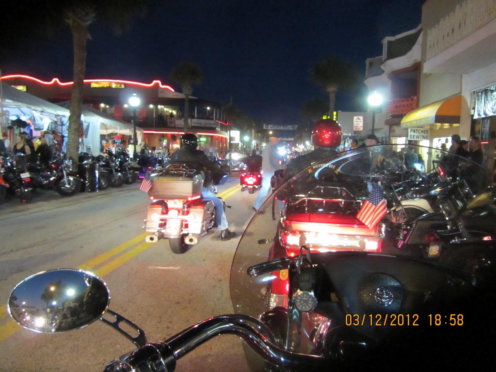 Long time tradition at bike week cruising main street