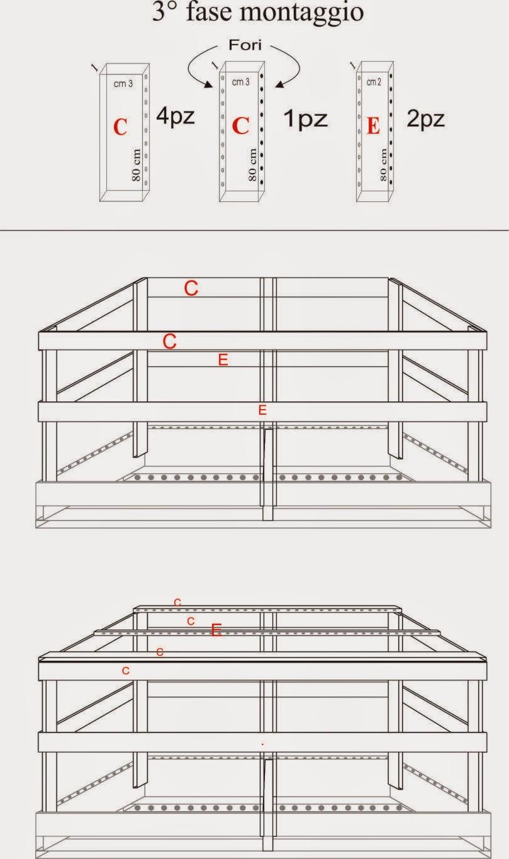 Costruire gabbie in legno per allevamento uccelli for Planimetria semplice con dimensioni
