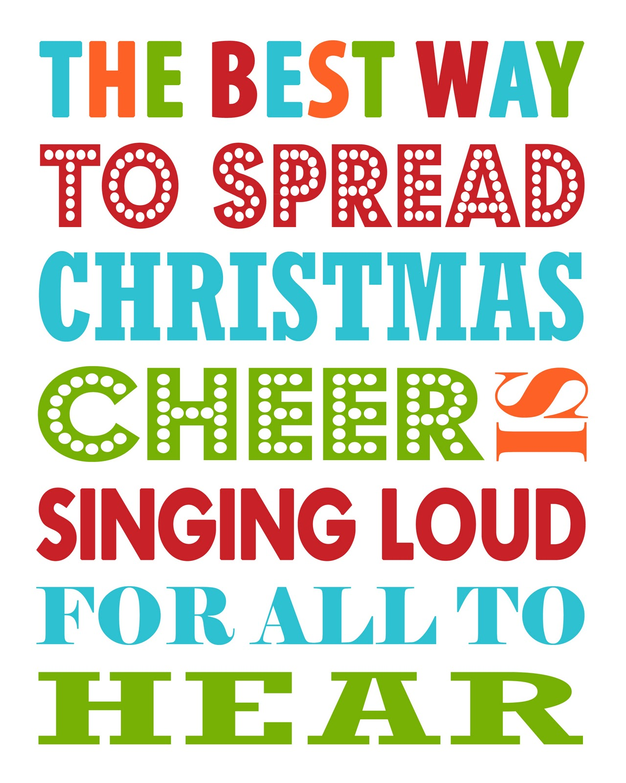 Best Way To Spread Christmas Cheer >> Free Christmas Printable The Best Way To Spread Christmas Cheer