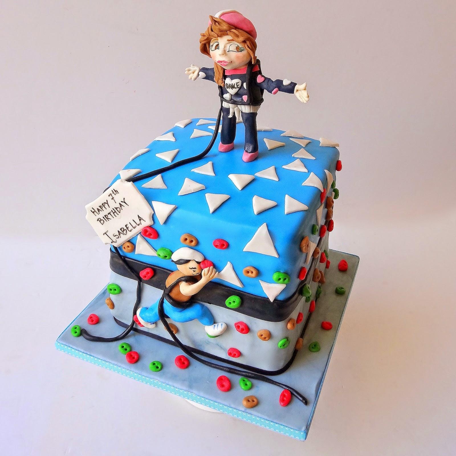 how to make a climbing wall cake