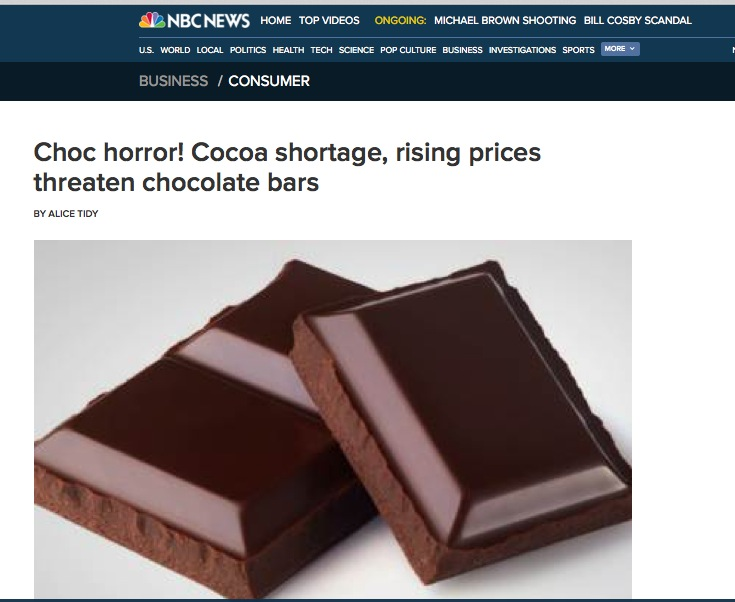http://www.nbcnews.com/business/consumer/choc-horror-cocoa-shortage-rising-prices-threaten-chocolate-bars-f8C11418435