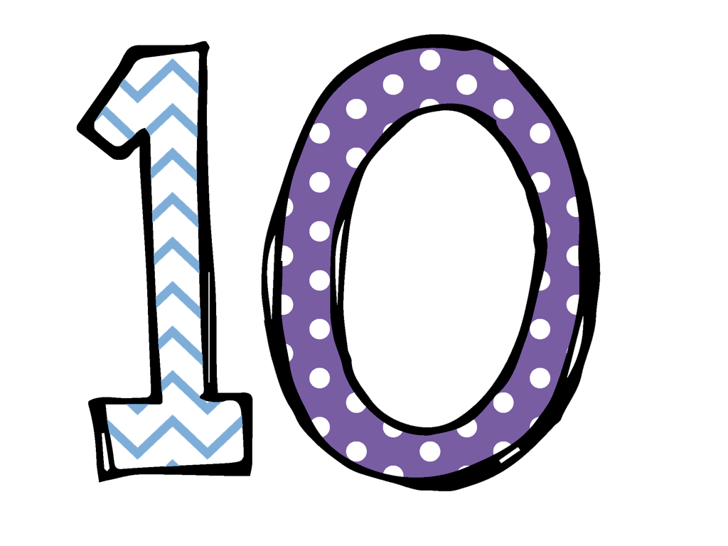 Number10 Glossy Number Ten Clipart Clear Number Ten Icon