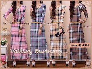 Vallery Burbery Maxi Dress