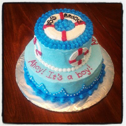 nautical baby shower cake this is a golden butter cake topped with