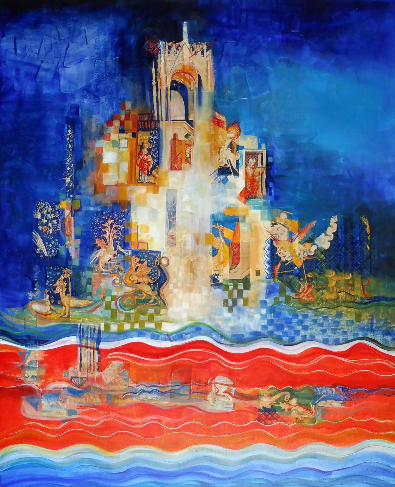Les vagues de l'Apocalypse - 81 x 100 cm - 2019