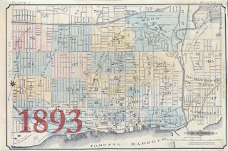 1893 Goad Atlas of the City of Toronto - Key Map