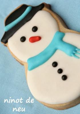 galeta de nadal, galleta de navidad, galeta decorada de nadal, galleta decorada de navidad, galeta ninot de neu, galleta muñeco de nieve