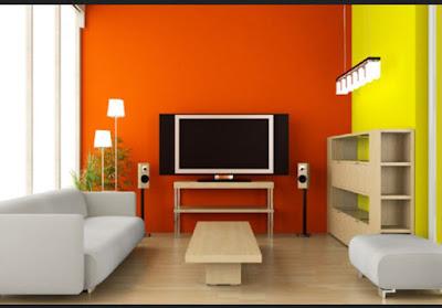 kombinasi warna cat rumah minimalis orange