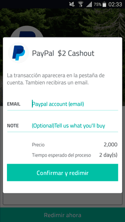 Slidejoy cuenta paypal