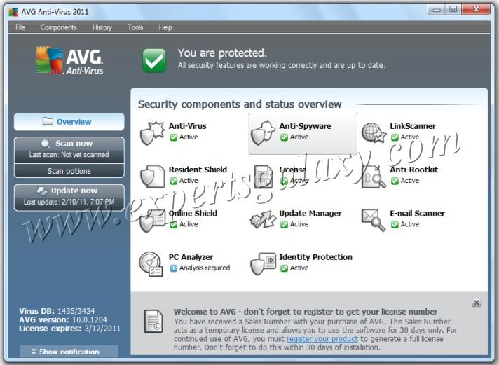 avg antivirus 2011 license key