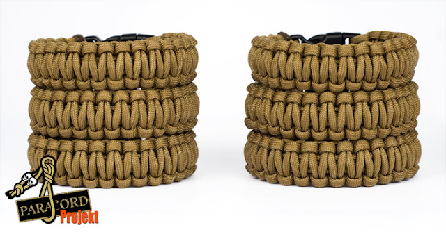 Bransoletki survivalowe z paracordu kolor COYOTE