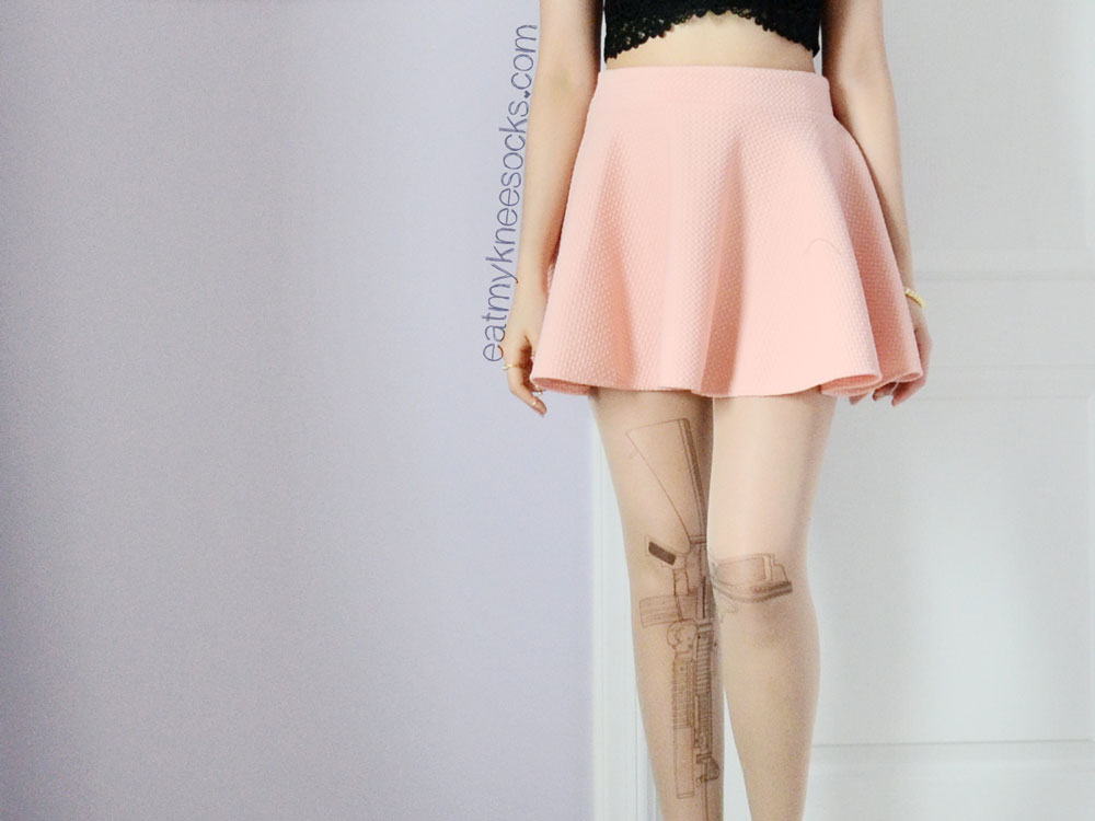 Brave Store's Harajuku-style gun stockings/tights are very versatile and high quality.