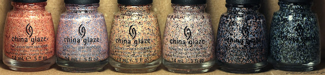 "China Glaze ""On the Horizon"" #81533 Youre a hoot Крики птиц, #81534 Light as Feather Легкая как перышко,#81535 All a flutter Взмахнем крыльями, #81536 Party Fowl Дичь,#81537 Flock together Вместе в стае, #81538 Flying south Летим на юг"