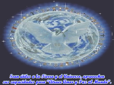 la Paz no proviene desde el exterior del Ser, aunque te parezca que así es.