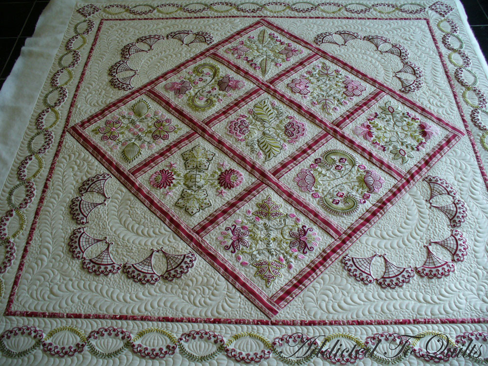 Embroidery Quilt Border Designs : Addicted To Quilts: More Embroidery from Janet Sansom