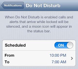 Do Not Disturb Mode of iOS