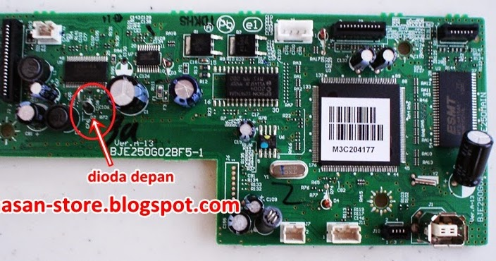 Cara Servis Epson TX121, L100 dan Epson L200 Mati Total