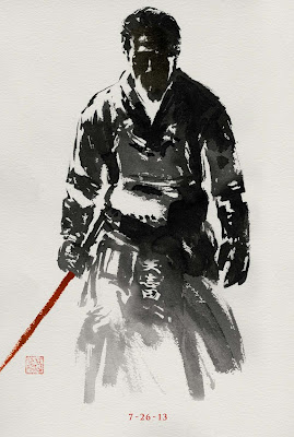 The Wolverine Sumi-e Character Movie Posters - Hiroyuki Sanada as Shingen