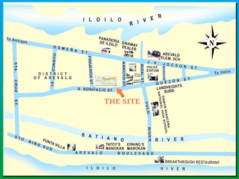 La Residencia By IVQ Landholdings In Villa Arevalo District - Iloilo city map