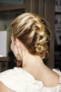 Tucked French Braid Updo hairstyles images