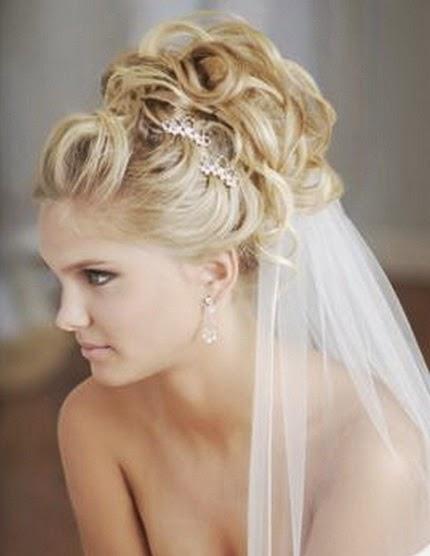 Peinados de novia 2014 recogidos con velo