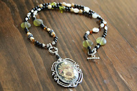 Dried Wild Flower Beaded Necklace by hotGlued