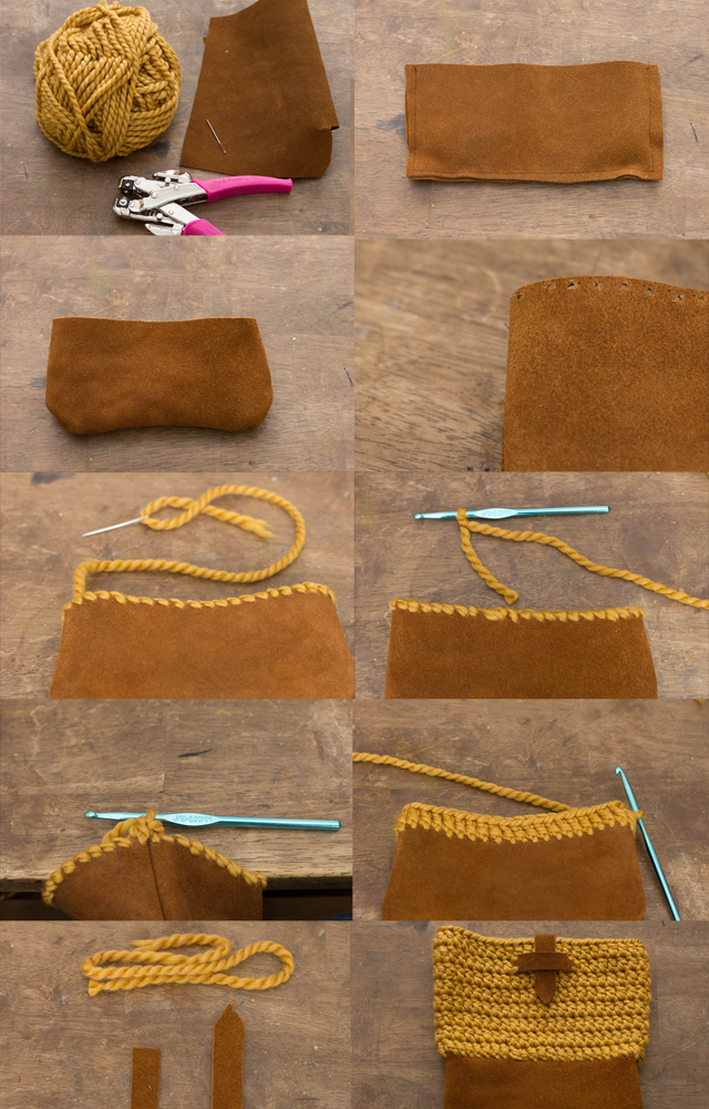 Yarn Bag Pattern : ... other strong hole punch), yarn needle, yarn of choice, J Crochet hook