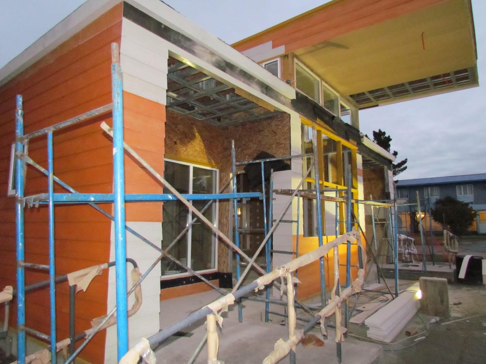 Secuencia constructiva paradero de buses octubre 2012 for Revestimiento exterior zinc