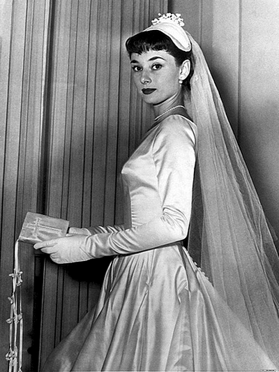 Fashionholic actress in the golden age wedding for Audrey hepburn inspired wedding dress