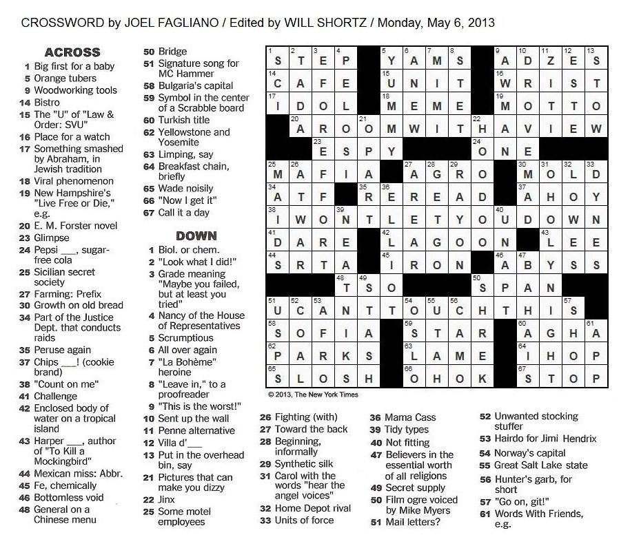 Permalink to woodworking tool crossword heaven