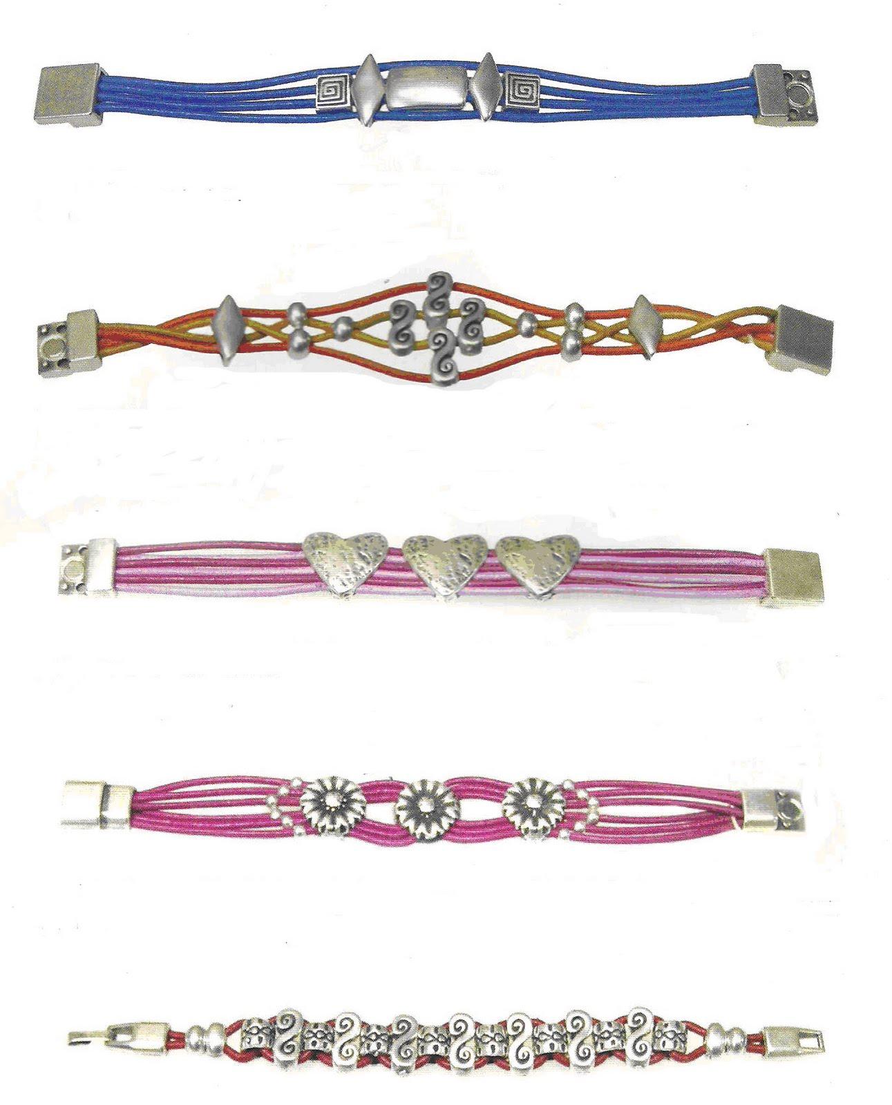 aqu os dejo nuevos ejemplos de pulseras realizadas con entrepiezas de zamak son muy fciles de hacer y quedan muy bonitas y elegantes