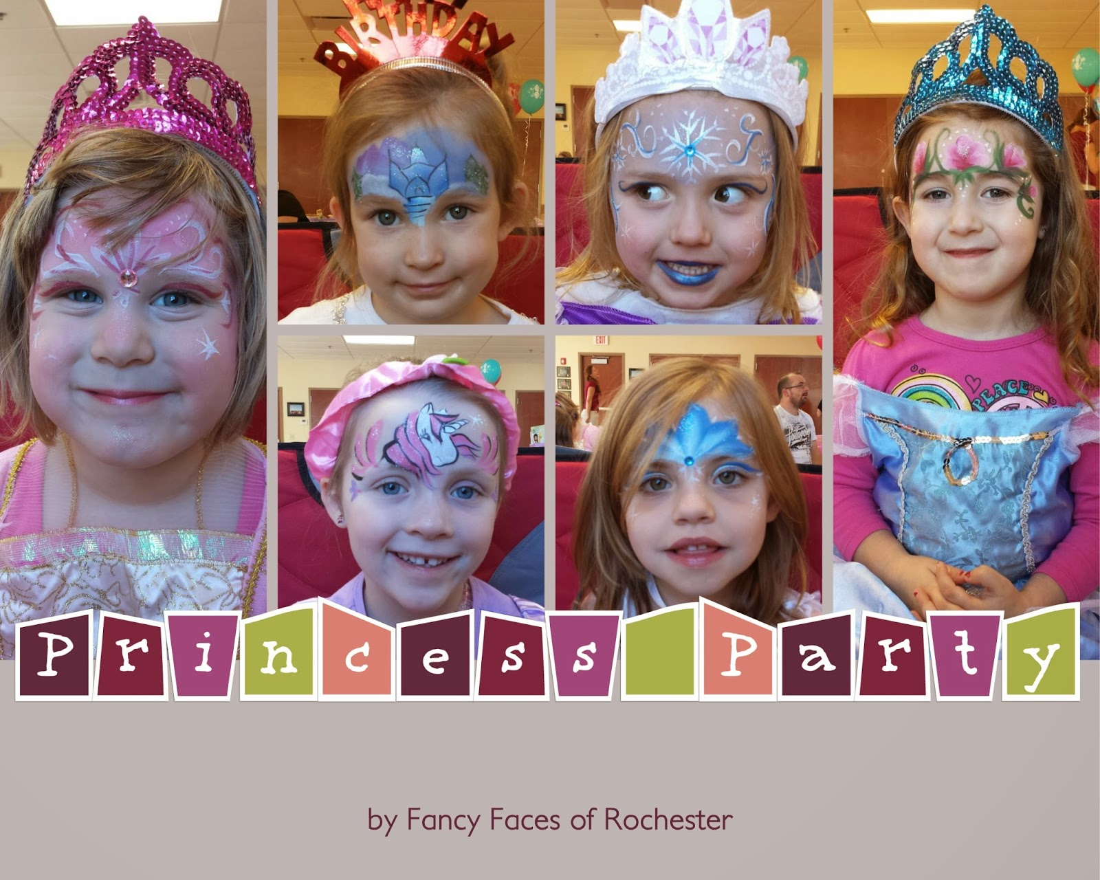 fancy faces of rochester princess party