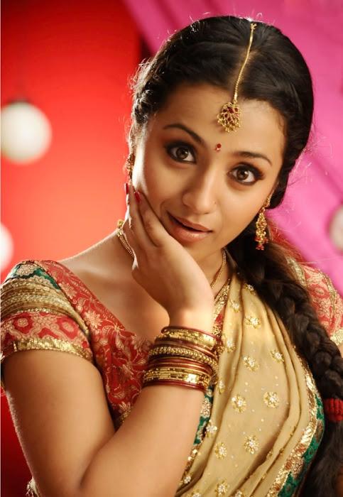 Trisha Gorgeous in Half Saree Photo Gallery
