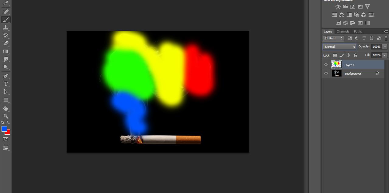 Tutorial Membuat Asap Menjadi Warna Warni Photoshop - Reza-R