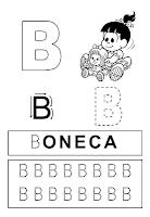 caligrafia da letra B