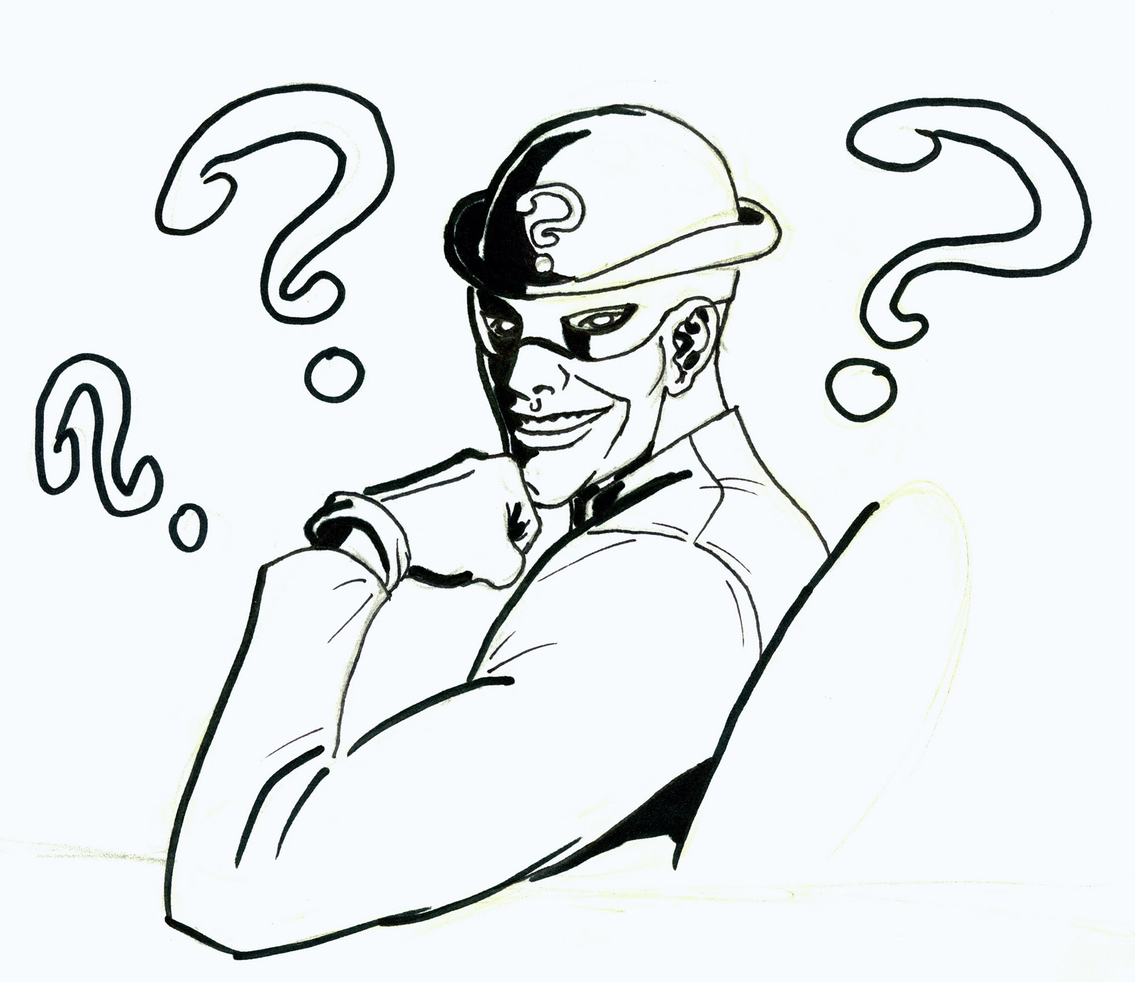 the riddler coloring pages - photo#8